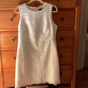 Ann Taylor geometric eyelet dress size 12 Petite